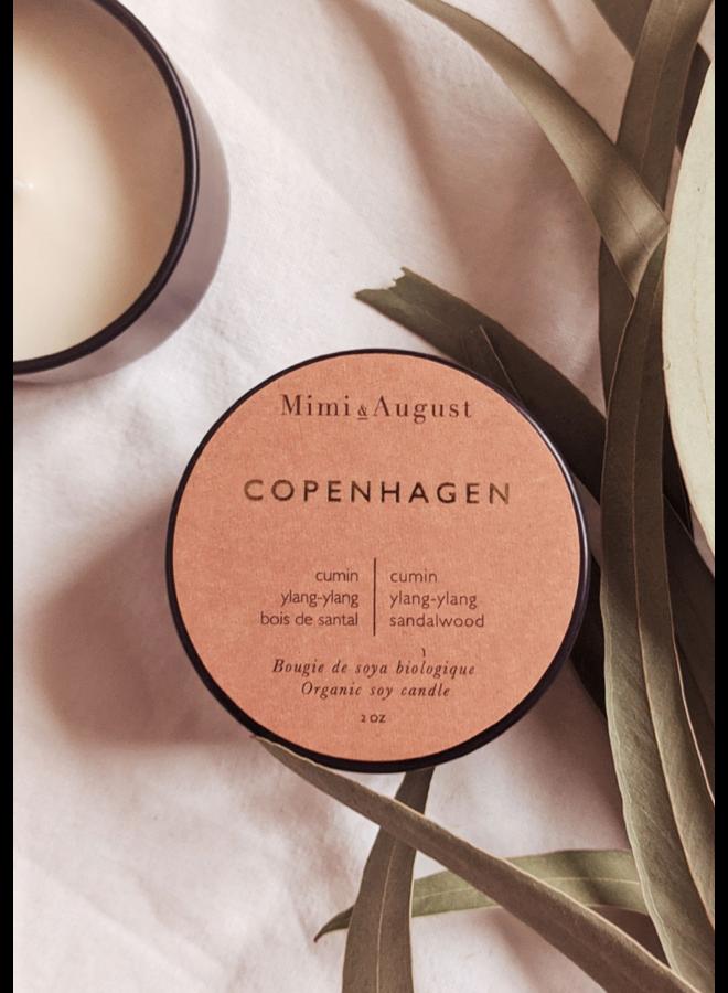 2oz Organic Soy Mini Candle - Copenhagen
