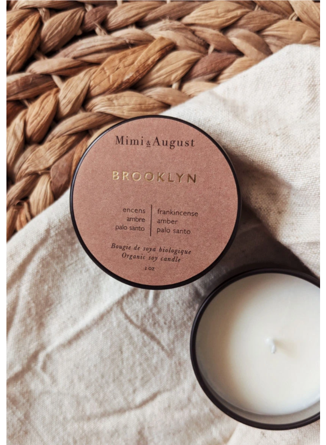 2oz Organic Soy Mini Candle - Brooklyn