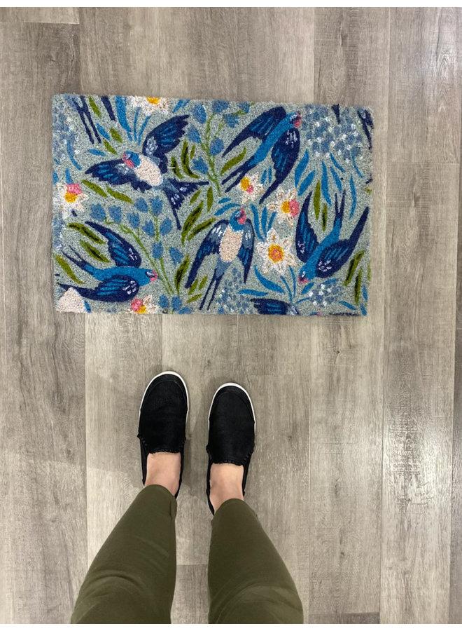 Blue Birds Doormat