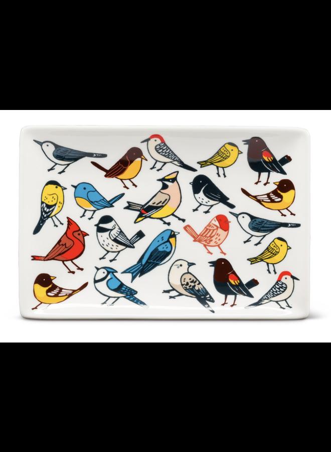 Allover Birds Rect Tray