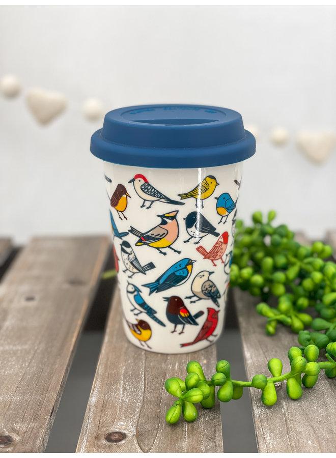 Allover Birds Travel Mug