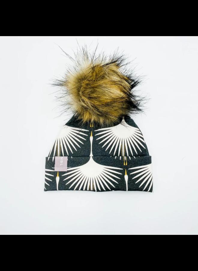 Black Swans Beanie Hat with Pom
