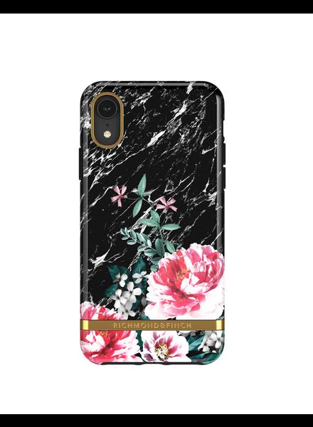 RICHMOND & FINCH RICHMOND & FINCH / Black Marble Floral (iPhone XR)