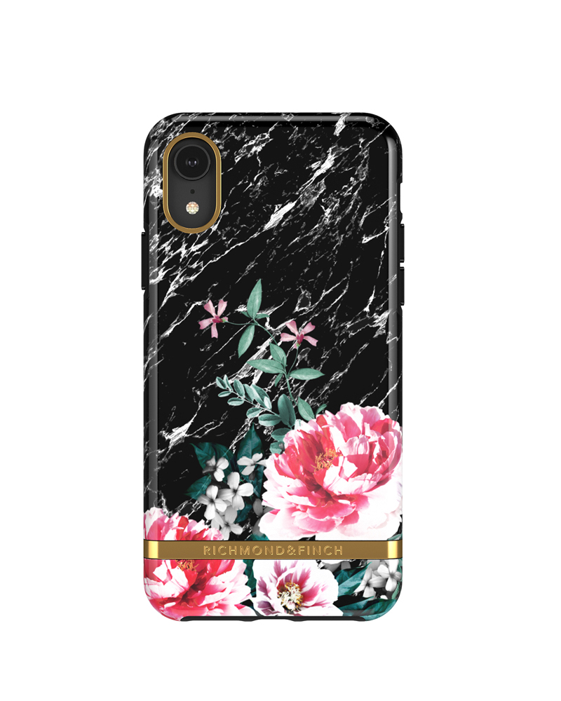 RICHMOND & FINCH RICHMOND & FINCH / Black Marble Floral (iPhone XR)