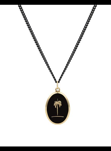 MIANSAI MIANSAI / Palm Tree Pendant Necklace (Gold Vermeil w/Enamel, Polished)