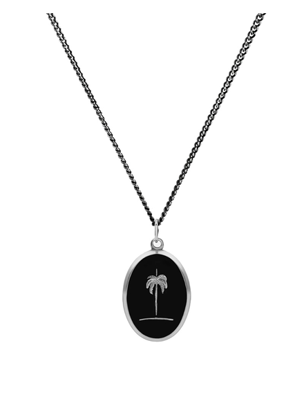 MIANSAI MIANSAI / Palm Tree Pendant Necklace (Sterling Silver, Oxidized)