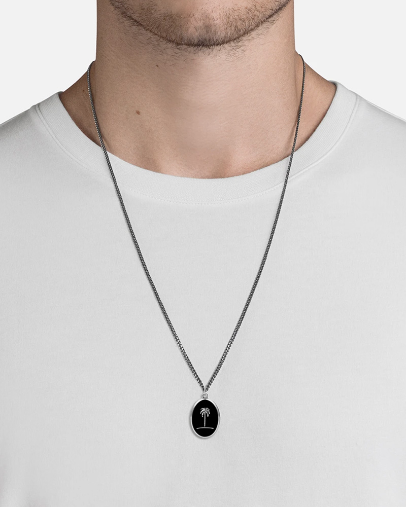 MIANSAI MIANSAI / Palm Tree Pendant Necklace (Sterling Silver, Oxidized)