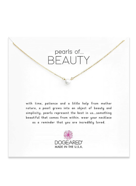 DOGEARED DOGEARED / Pearls of Beauty - Small Necklace (Gold Dipped, o/s)