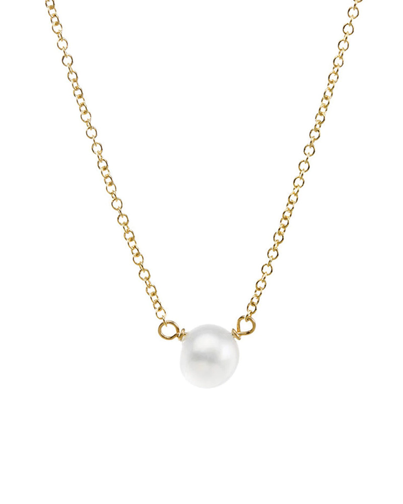 DOGEARED DOGEARED / Pearls of Happiness - Small Necklace (Gold Dipped, o/s)