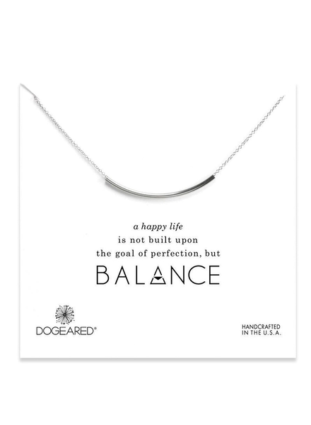 DOGEARED DOGEARED / Balance Tube Necklace (Silver, o/s)