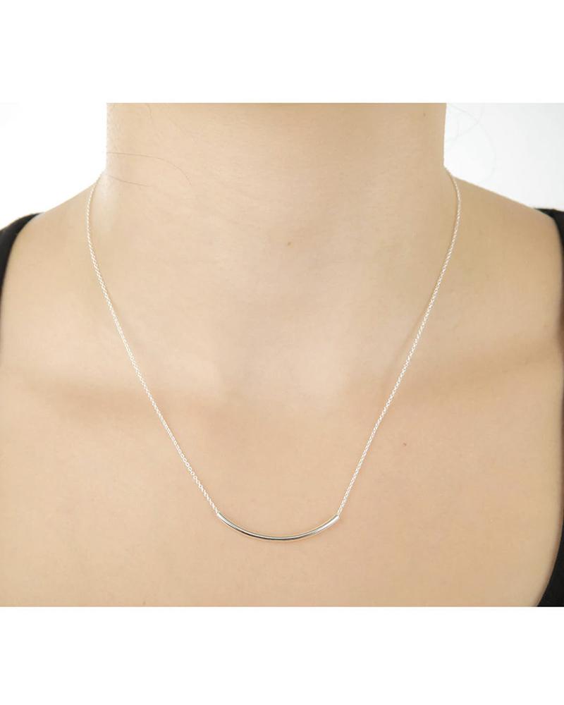 DOGEARED DOGEARED / Balance Tube Necklace (Silver, o/s)