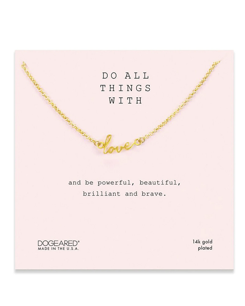 DOGEARED DOGEARED / Do all things with love (Gold, o/s)