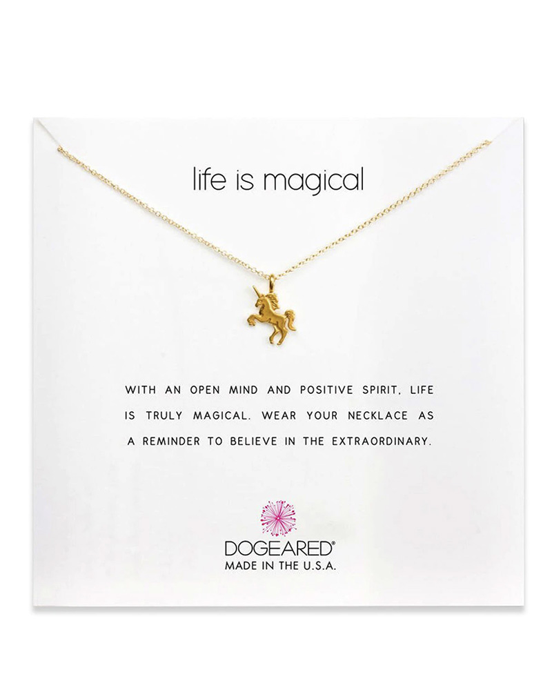 DOGEARED DOGEARED / Life is Magical Necklace (Gold Dipped, o/s)