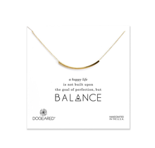 DOGEARED / Balance Tube Necklace (Gold, o/s)