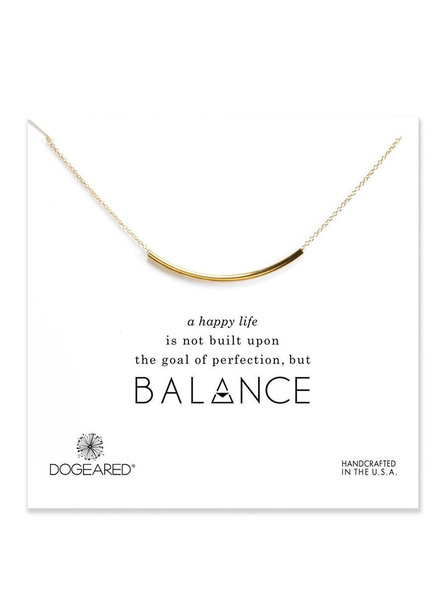 DOGEARED DOGEARED / Balance Tube Necklace (Gold, o/s)