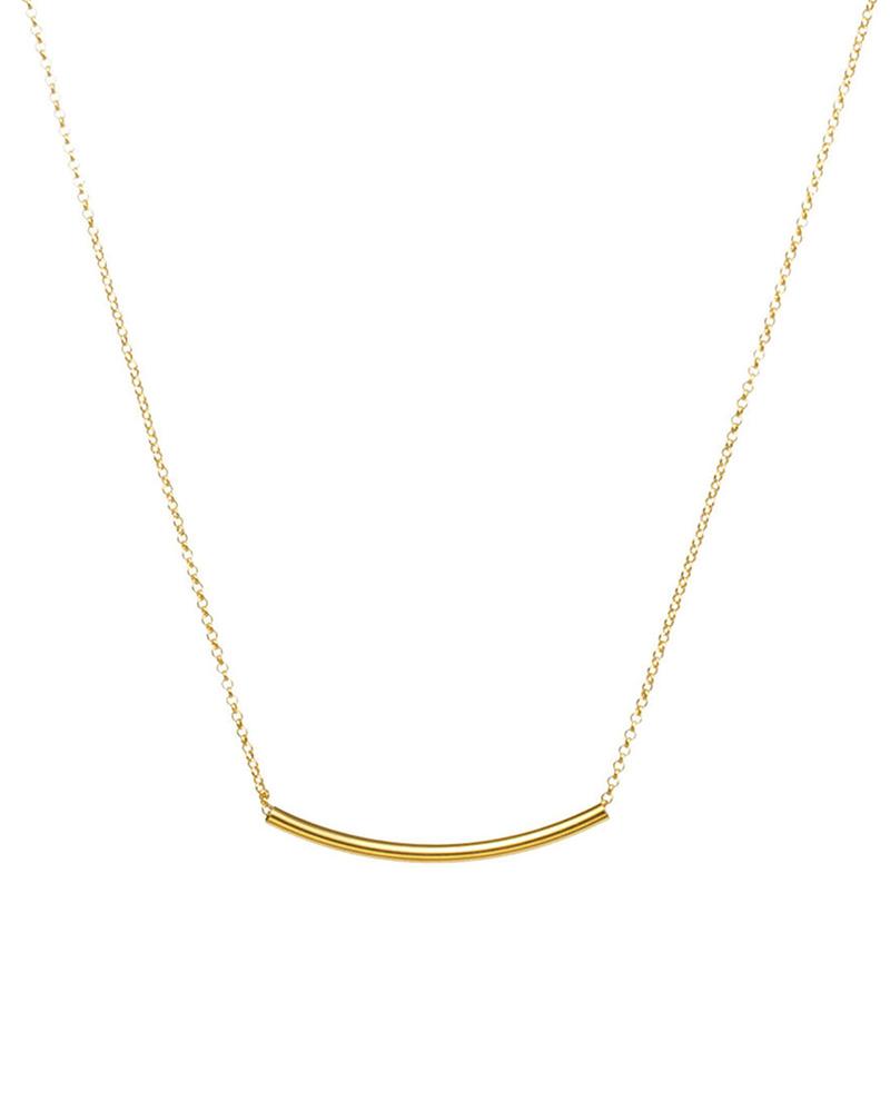 DOGEARED DOGEARED / Balance Tube Necklace (Gold, o/s)