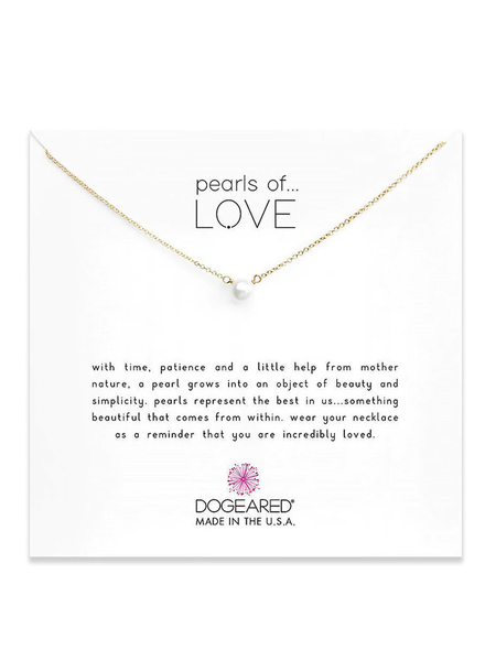 DOGEARED DOGEARED / Pearls of Love - Small Necklace (Gold Dipped, o/s)