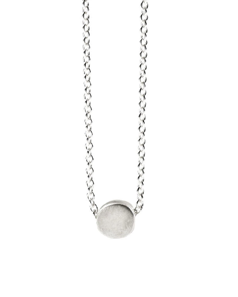 DOGEARED DOGEARED / The Circle Necklace (Sterling Silver, o/s)