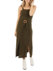 Belted Olive Dress