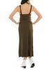 Belted Olive Dress