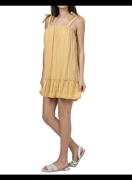 Ruffled Hem Linen Dress
