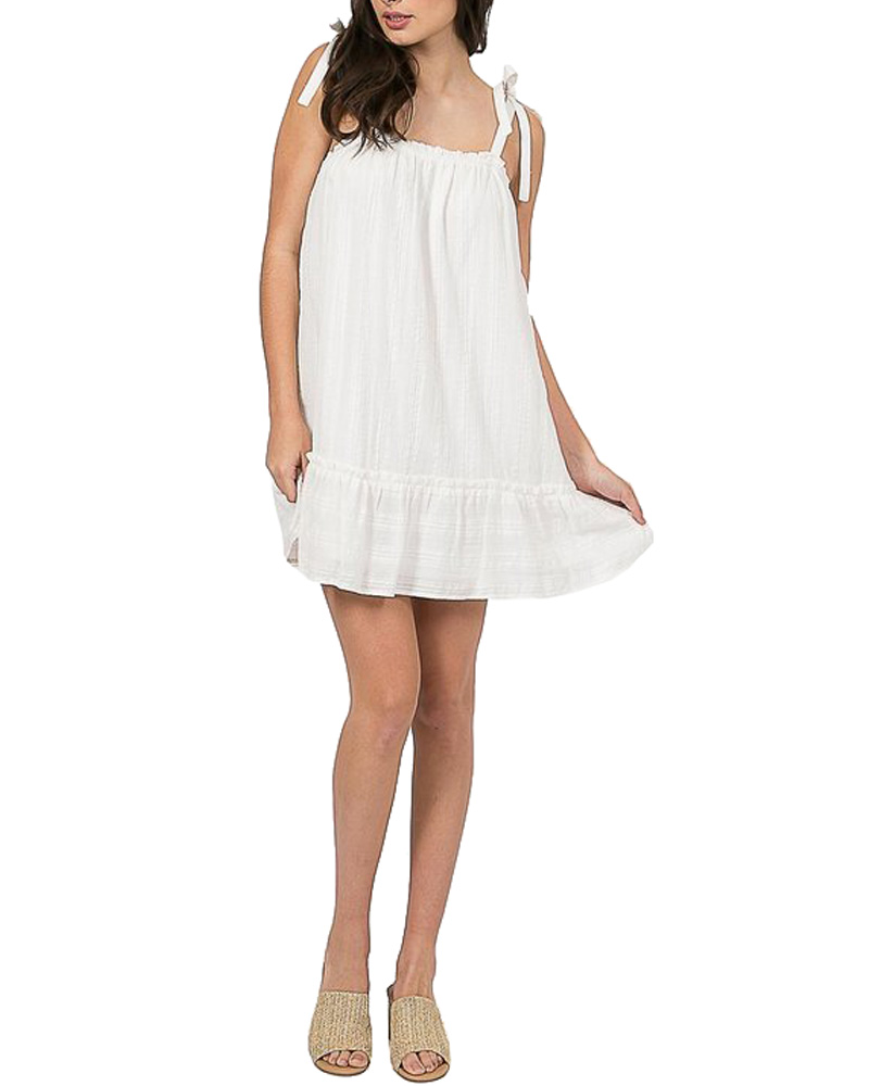 Ruffled Hem Linen Dress