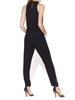 HALSTON HALSTON / Sleeveless Mock Cowl Neck Tapered Jumpsuit