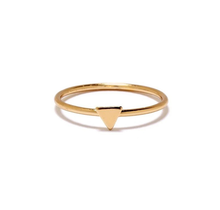 BING BANG / Tiny Triangle Ring - yellow (14k yellow gold vermeil)
