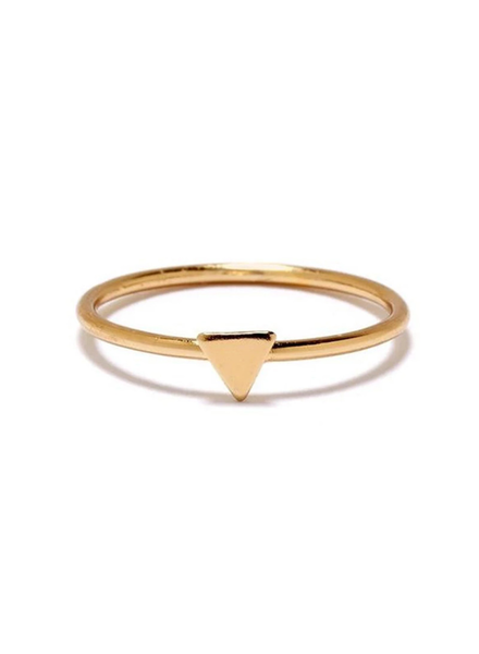 BING BANG BING BANG / Tiny Triangle Ring - yellow (14k yellow gold vermeil)