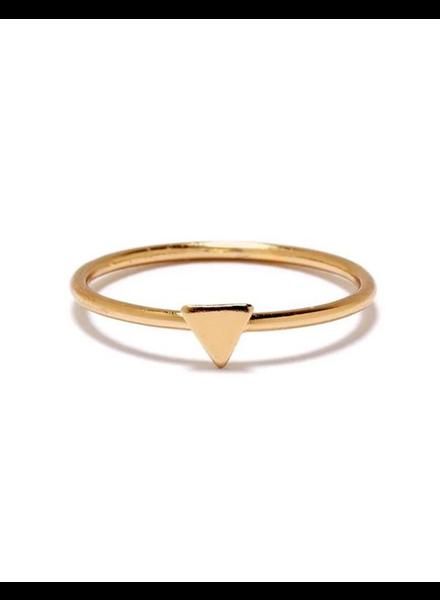 BING BANG BING BANG / Tiny Triangle Ring - yellow (14k yellow gold vermeil)