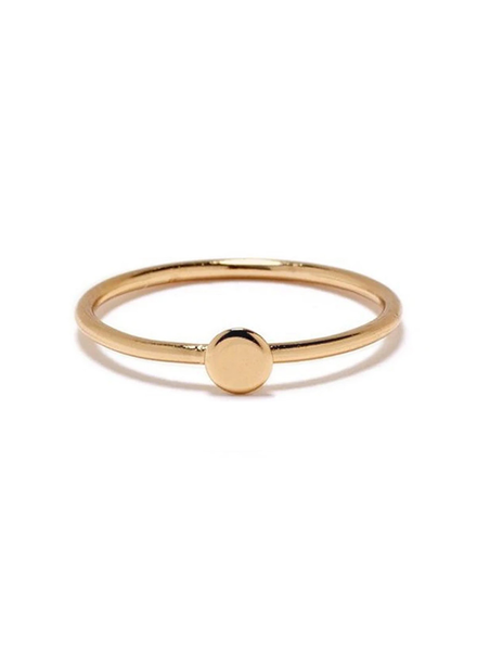 BING BANG BING BANG / Tiny Circle Ring - yellow (14k yellow gold vermeil)