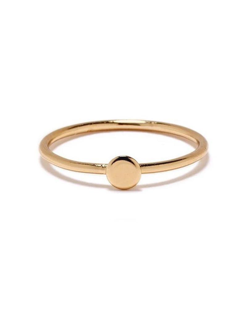 BING BANG BING BANG / Tiny Circle Ring - yellow (14k yellow gold vermeil)