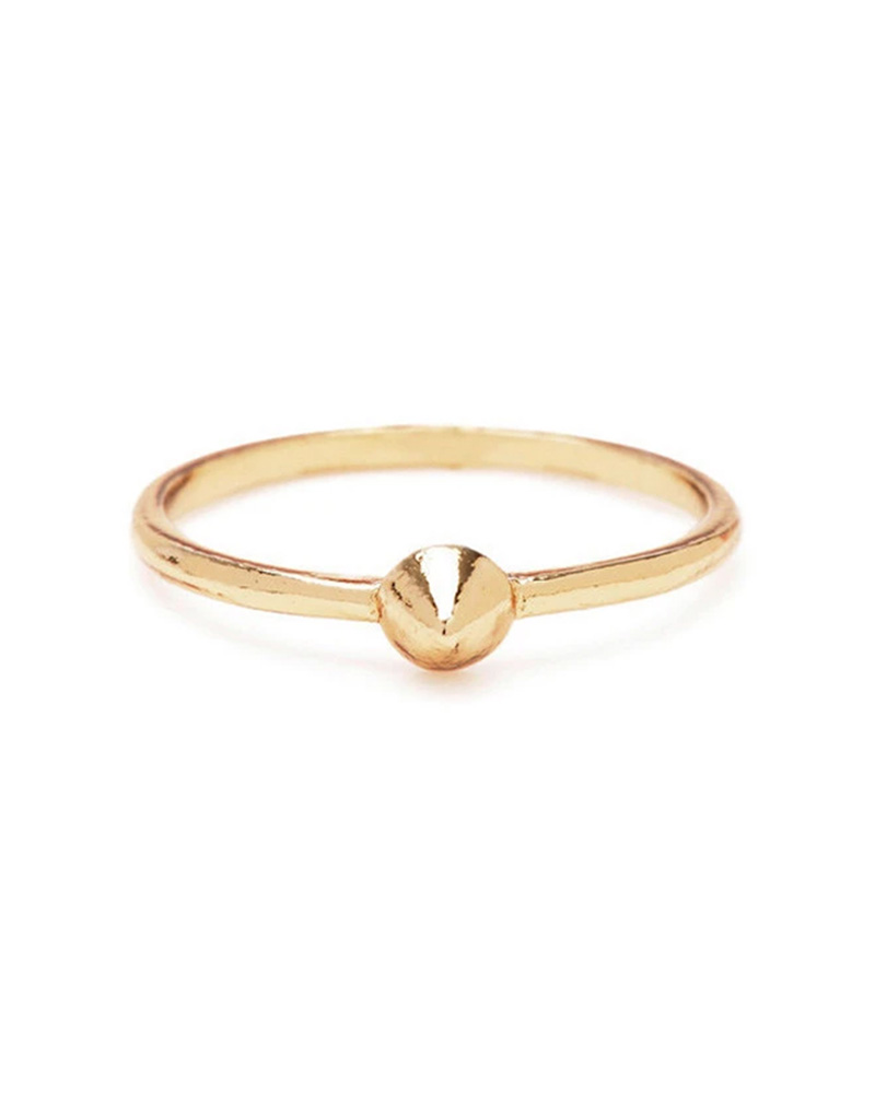 BING BANG BING BANG / Tiny Vivienne Ring - yellow (14k yellow gold vermeil)