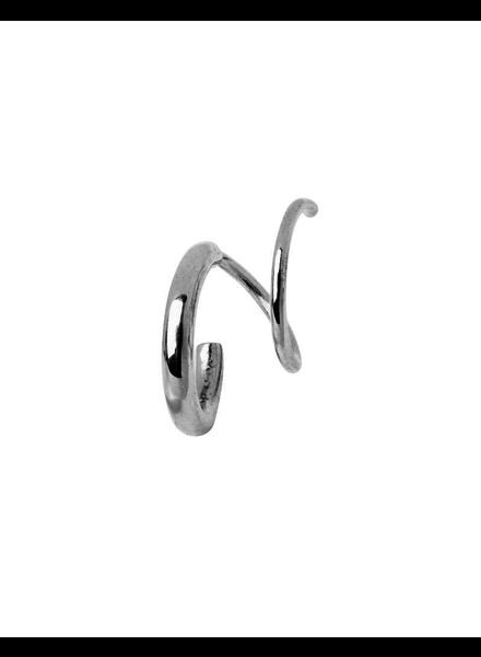 MARIA BLACK MARIA BLACK / Dogma Twirl Earring Right (Silver, o/s)
