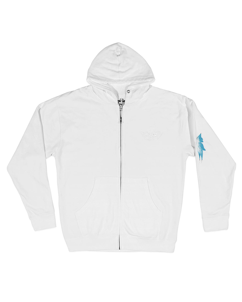 BOYS LIE BOYS LIE / Feelings Come, Feelings Go Zip Up Hoodie (White, o/s)