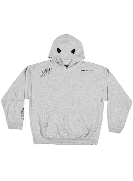 BOYS LIE BOYS LIE / Read Me V2 Grey Hoodie (Grey, o/s)