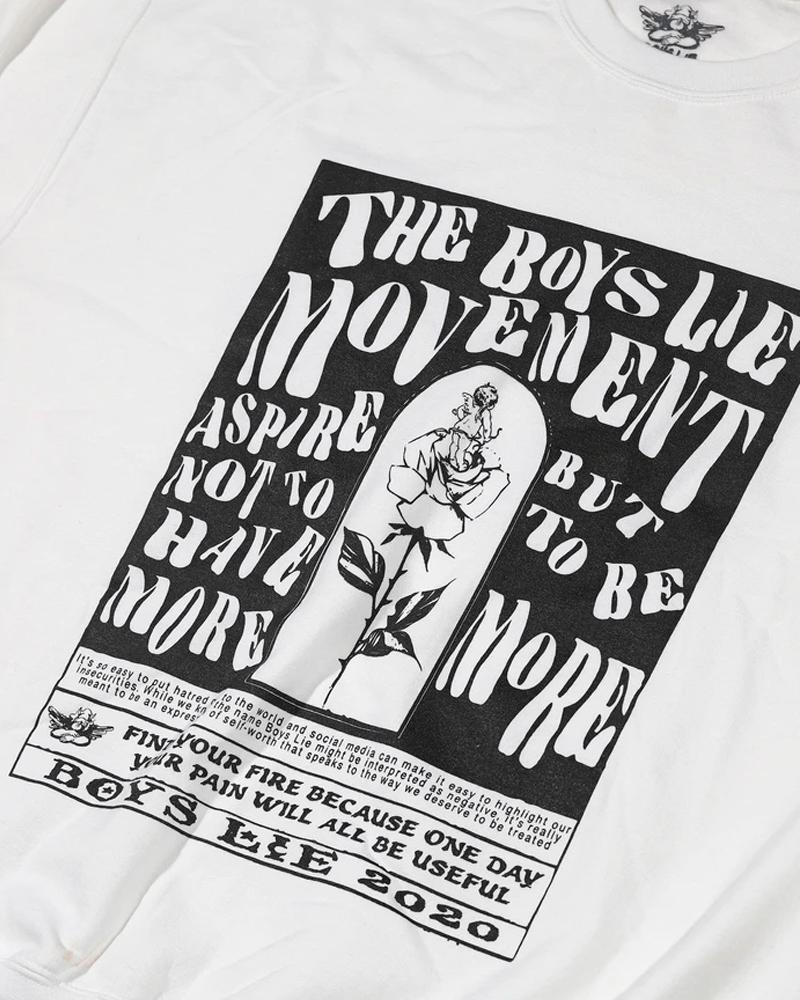 BOYS LIE BOYS LIE / Boys Lie Movement W1 Crewneck (Grey, O/S)