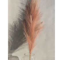 Large Dusty Rose Faux Pampas Grass - 1 Stem