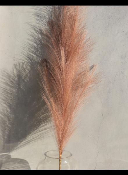 Large Dusty Rose Faux Pampas Grass - 1 Stem