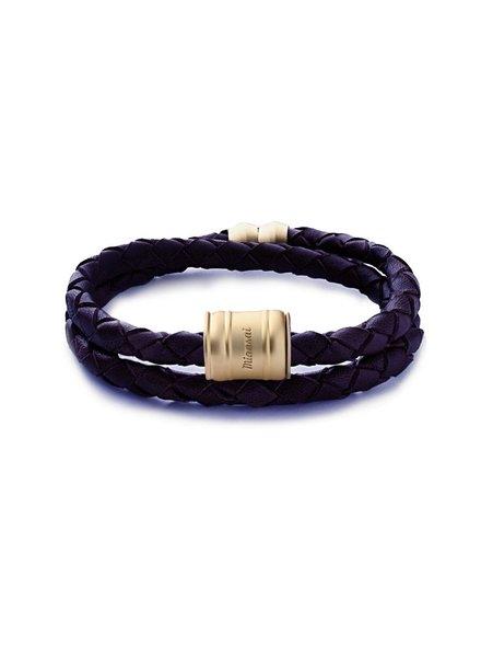 MIANSAI / Leather Casing Bracelet Matte Gold