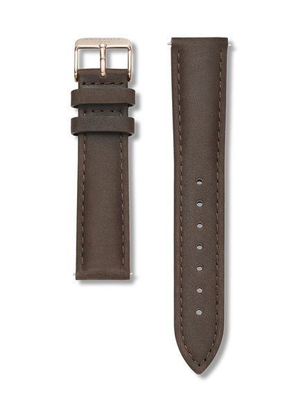 ROSEFIELD / Stitched Clasp (Brown/Rosegold)
