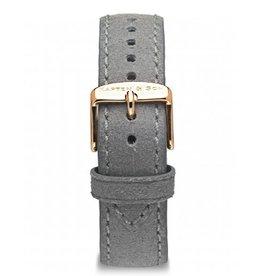 KAPTEN & SON KAPTEN & SON / Campina Leather Strap  (Grey Vintage/Rose Gold, 18MM)
