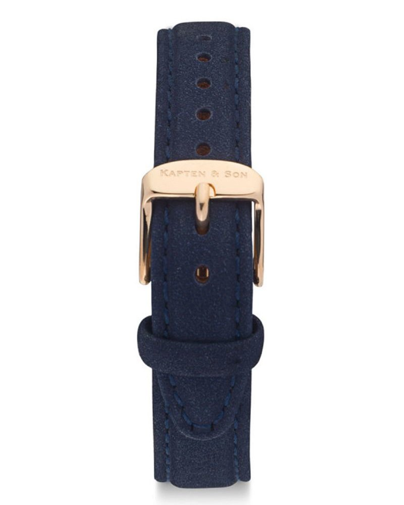 KAPTEN & SON / Joy Leather Strap (Night Blue Velvet)