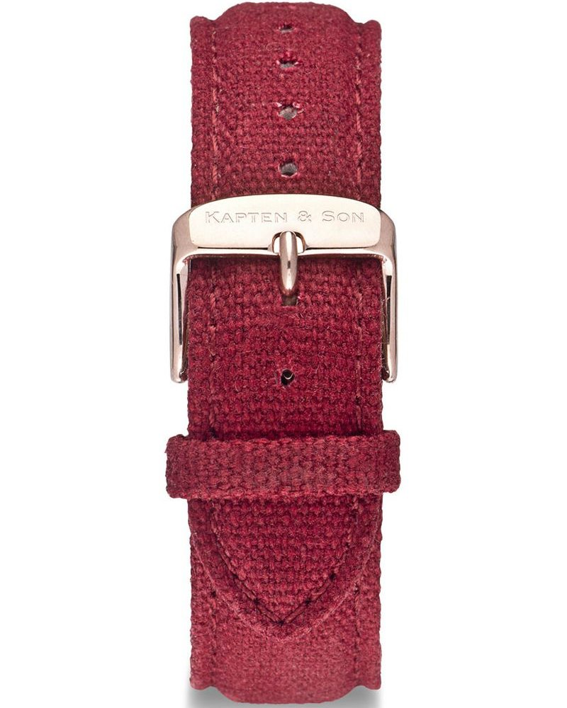 KAPTEN & SON / Canvas Strap Bordeaux Campina