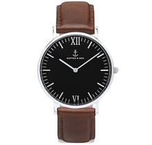 KAPTEN & SON / Campina Leather Brown Black Dial
