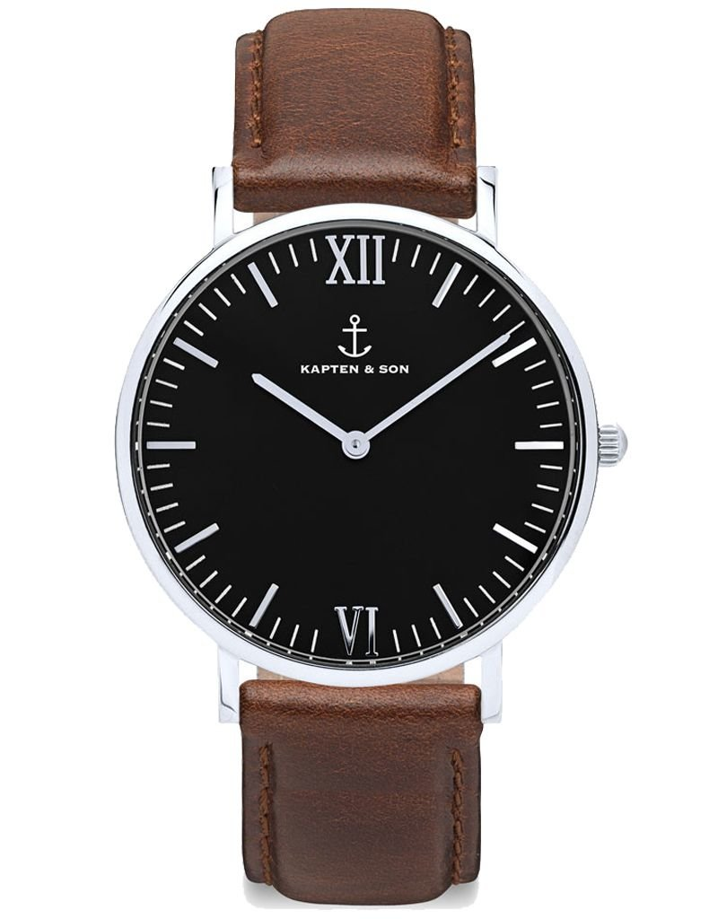 KAPTEN & SON KAPTEN & SON / Campina Leather Brown Black Dial