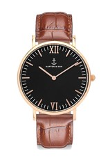 KAPTEN & SON KAPTEN & SON / Campina Leather Brown Croco Black Dial