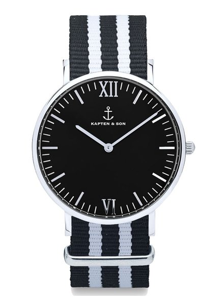 KAPTEN & SON / Campina Nylon Night Rider Black Dial