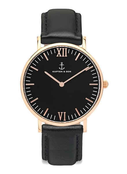 KAPTEN & SON / Campus Leather All Black
