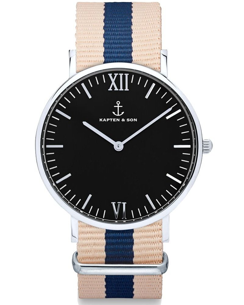 KAPTEN & SON / Campus Nylon Roadtrip Black Dial
